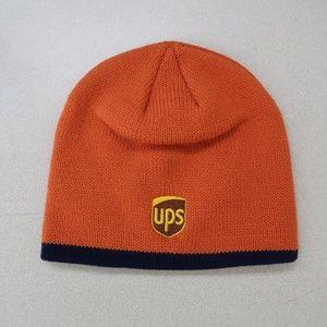 UPS Orange Embroidered Winter Beanie Hat